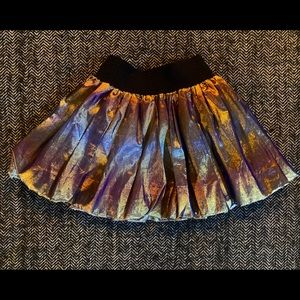 Metallic party skirt unsized